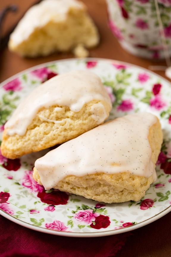 Petite Vanilla Bean Scones with Vanilla Bean Glaze   Cooking Classy
