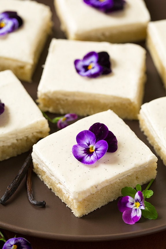 Vanilla Bean Sugar Cookie Bars with Vanilla Bean Frosting - Cooking ...