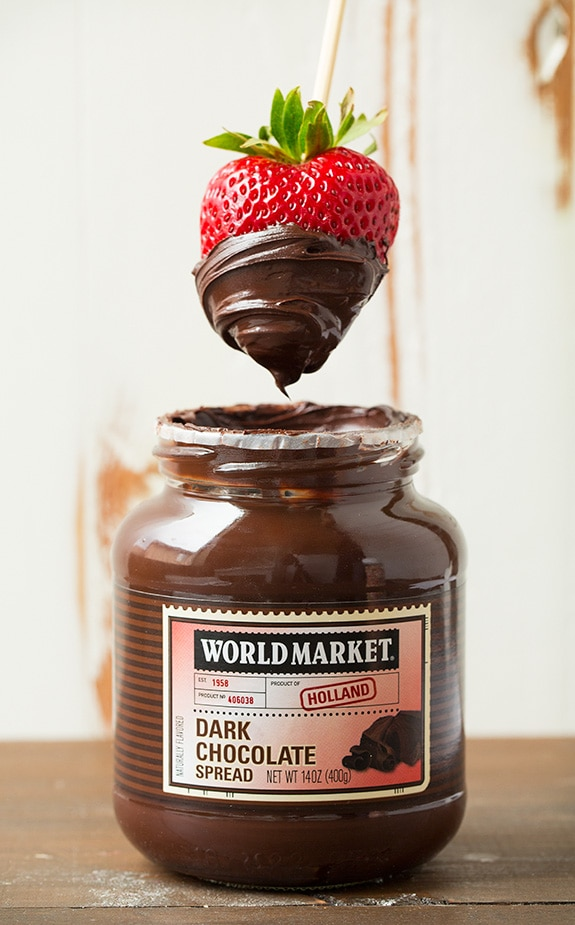 Dark Chocolate Spread - it's perfect for s'mores and fruit!