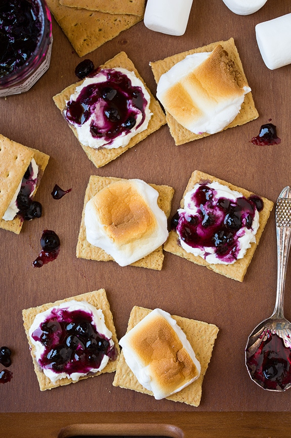 Blueberry Cheesecake S'mores | Cooking Classy