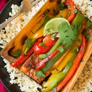 Chipotle Rubbed Salmon with Bell Peppers in Cedar Paper | Cooking Classy
