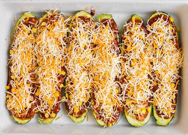 Chicken Enchilada Zucchini Boats | Cooking Classy