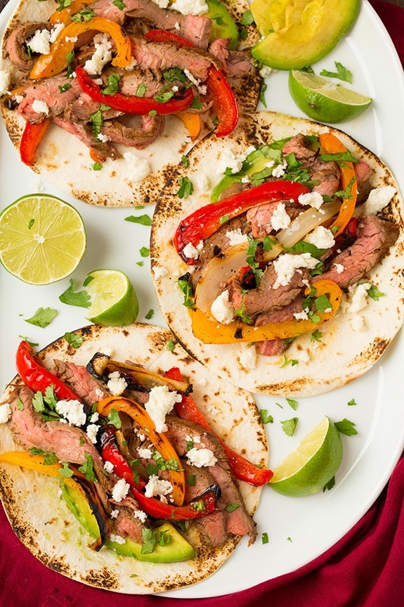 Grilled Steak Fajitas | Cooking Classy