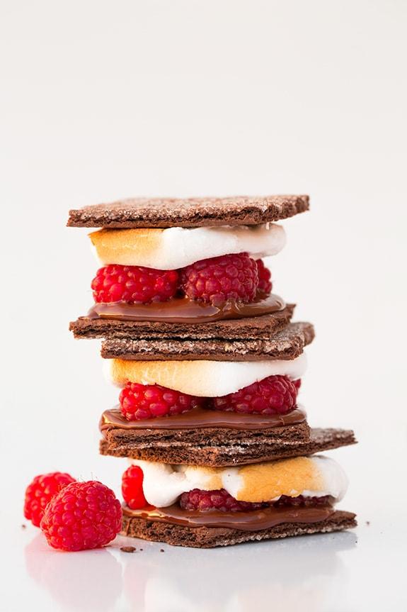 Dark Chocolate Raspberry S'mores | Cooking Classy
