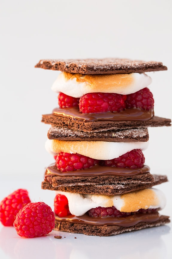 Dark Chocolate Raspberry S'mores | Cooking Classy