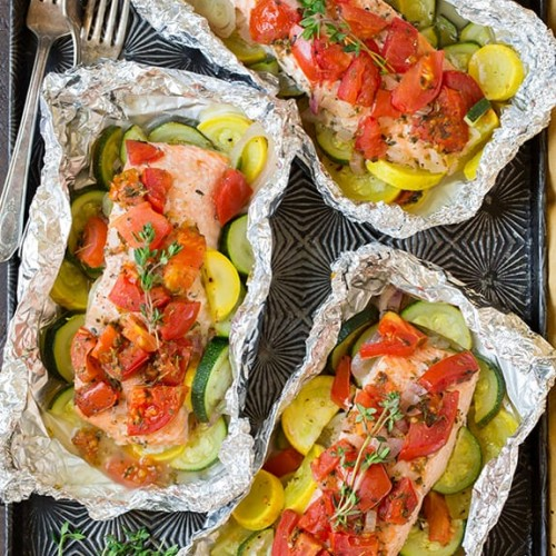 Food 1 2016 7 17 Salmon With Summer Squash Vegetables >> Salmon And Summer Veggies In Foil Cooking Classy