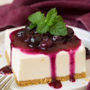 No Bake Cheesecake Bars with Fresh Blueberry Sauce | Cooking Classy