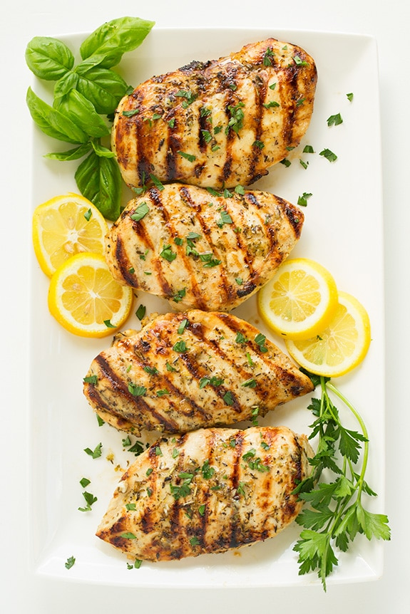 Grilled Greek Lemon Chicken