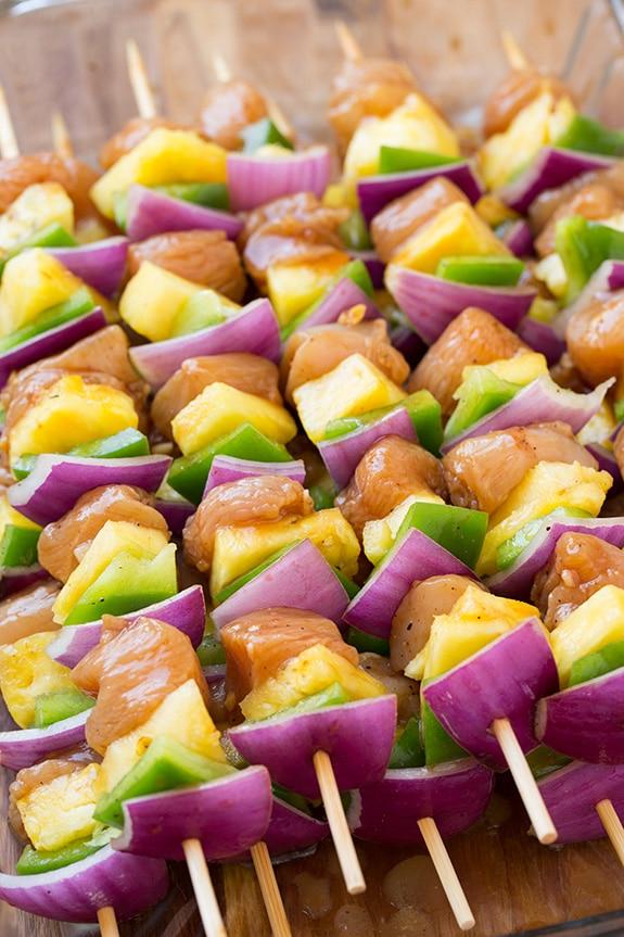 Hawaiian Chicken Kebabs | Cooking Classy