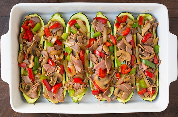 Philly Cheese Steak Zucchini Boats | Cooking Classy