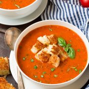 Roasted Tomato Basil Soup | Cooking Classy