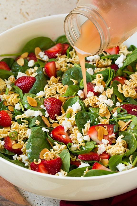 Strawberry Crunch Spinach Salad | Cooking Classy