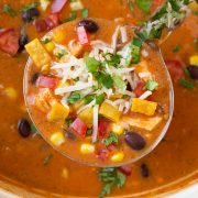 Cheesy Chicken Enchilada Soup | Cooking Classy