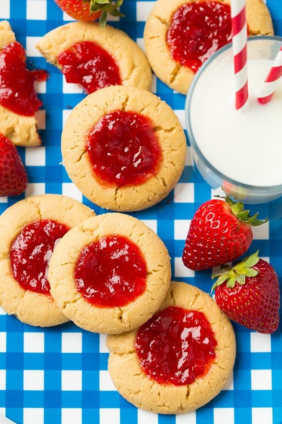 PB&J Thumbprint Cookies | Cooking Classy