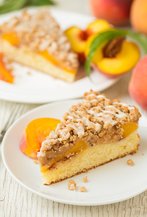 Peach Crumb Cake | Cooking Classy