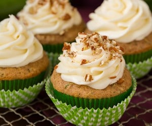 Spiced Zucchini Cupcakes with Cream Cheese Frosting | Cooking Classy