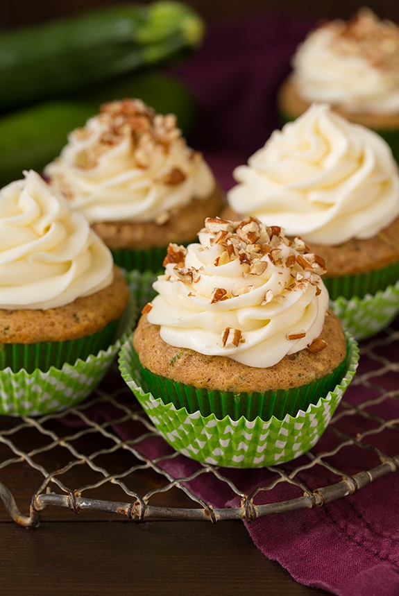 Spiced Zucchini Cupcakes with Cream Cheese Frosting - Recipes