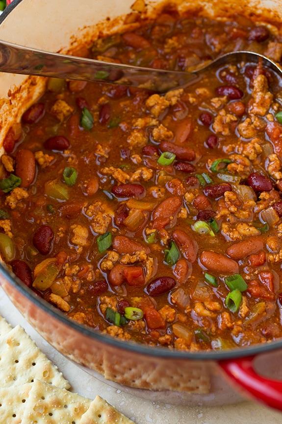 Best Turkey Chili in Pot