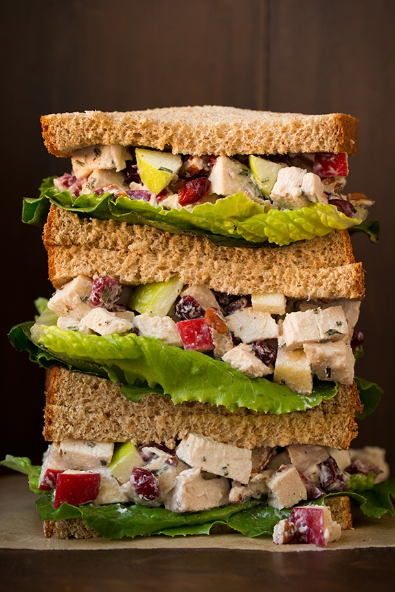 Chicken Salad With Apples Pecans And Rosemary Cooking Classy