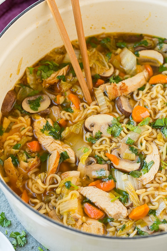Commit Asian chicken and noodles are