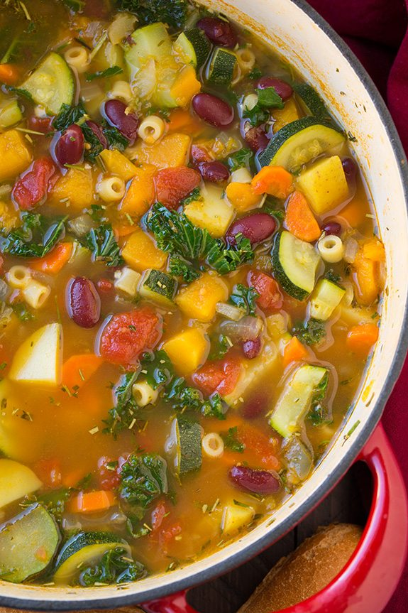 Autumn Minestrone Soup | Cooking Classy