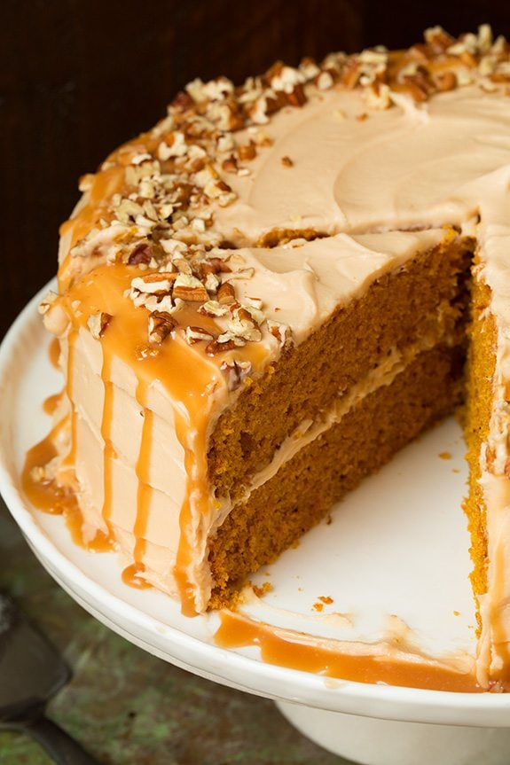 Brown Butter Pumpkin Cupcakes With Salted Caramel Frosting Recipes ...
