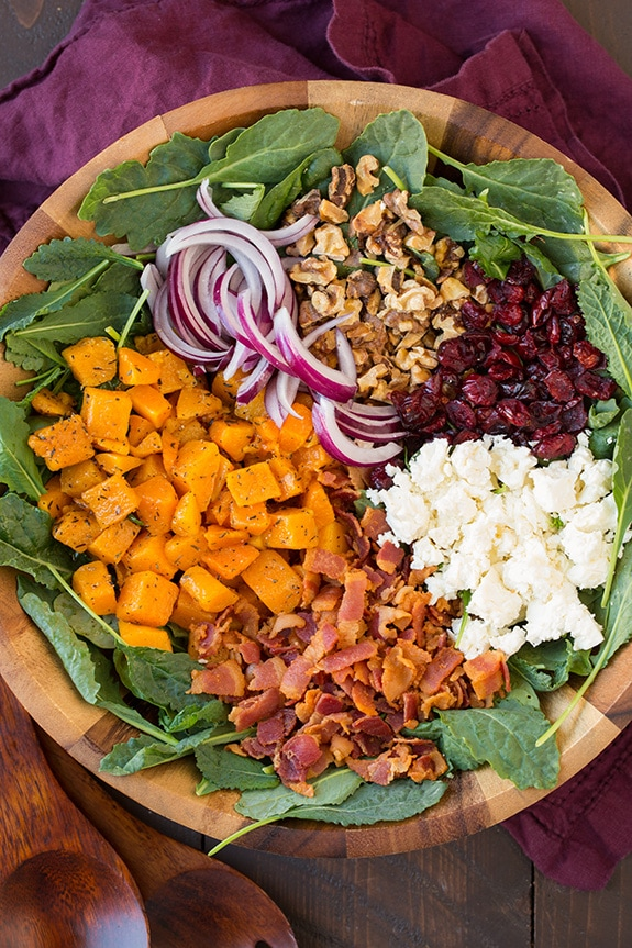 Butternut Squash and Bacon Salad with Maple-Rosemary Vinaigrette | Cooking Classy
