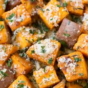 Garlic Herb Roasted Sweet Potatoes | Cooking Classy