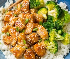Lighter Honey-Sesame Chicken | Cooking Classy