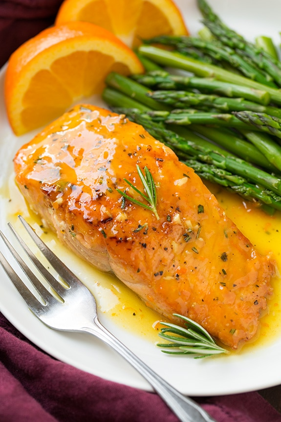 Orange Glazed Salmon Recipe With Rosemary Cooking Classy