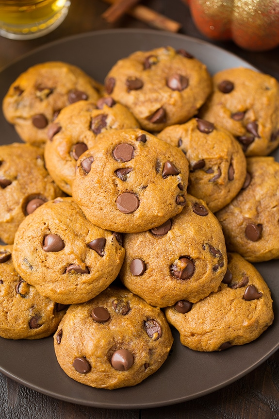 Pumpkin Chocolate Chip Cookies | Cooking Classy