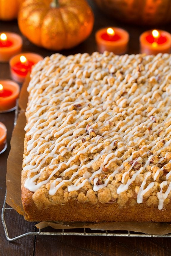 Pumpkin Crumb Cake | Cooking Classy