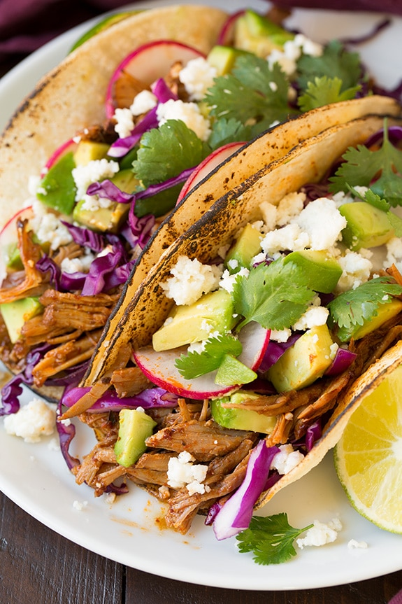 Slow Cooker Pork Tacos   Cooking Classy