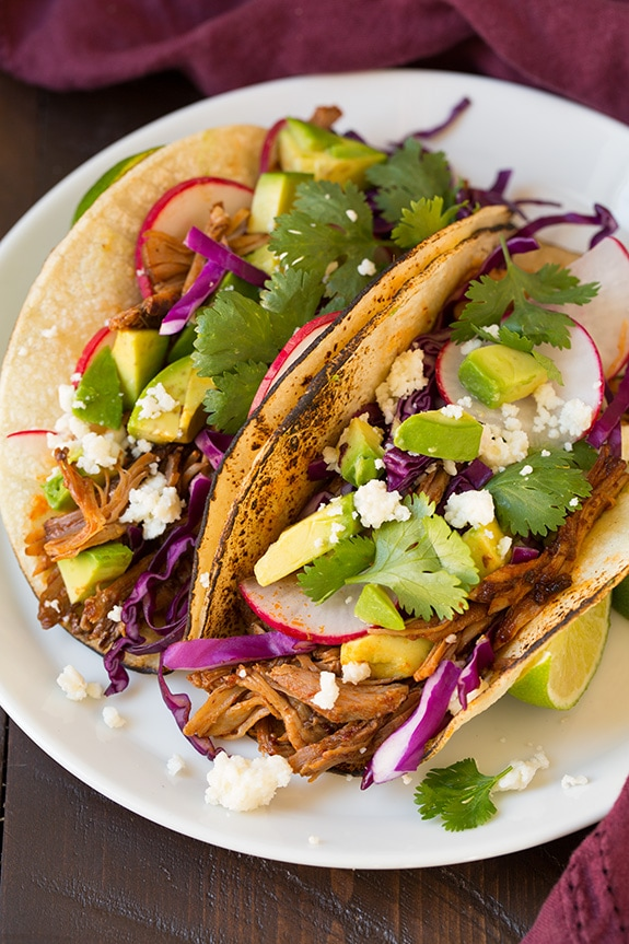 Slow-Cooked Pork Tacos Recipe — Dishmaps