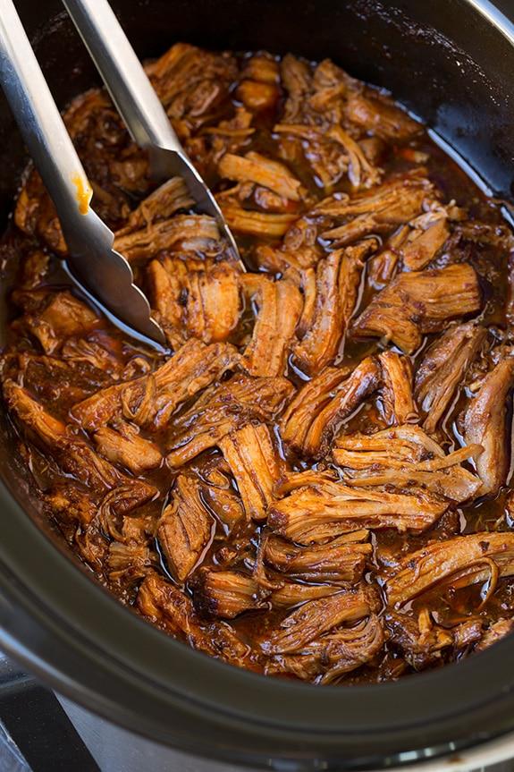 slow cooker pork taco filling