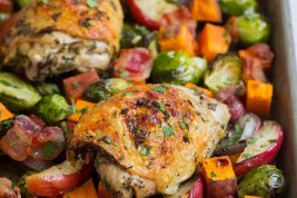 One Pan Autumn Chicken Dinner
