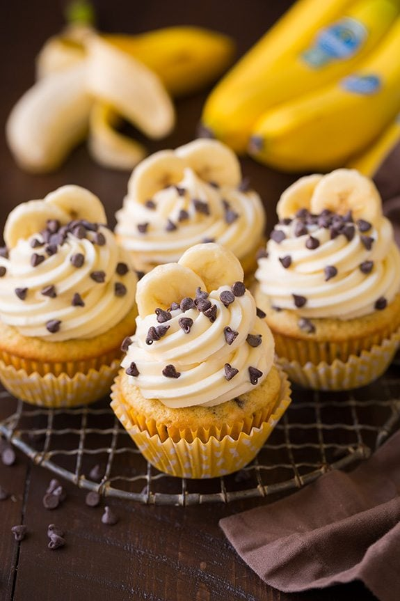 Banana Chocolate Chip Cupcakes with Cream Cheese Frosting | Cooking Classy