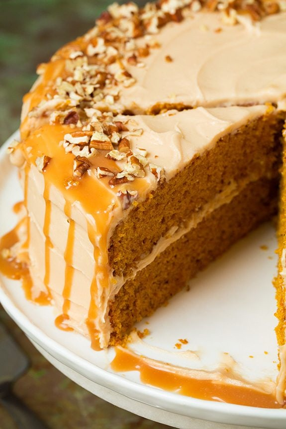 Browned Butter Pumpkin Cake with Salted Caramel Frosting ...