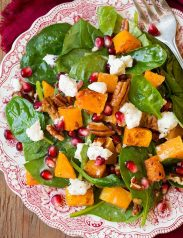 Butternut Squash Spinach Salad