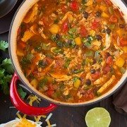 Chicken Fajita and Rice Soup | Cooking Classy