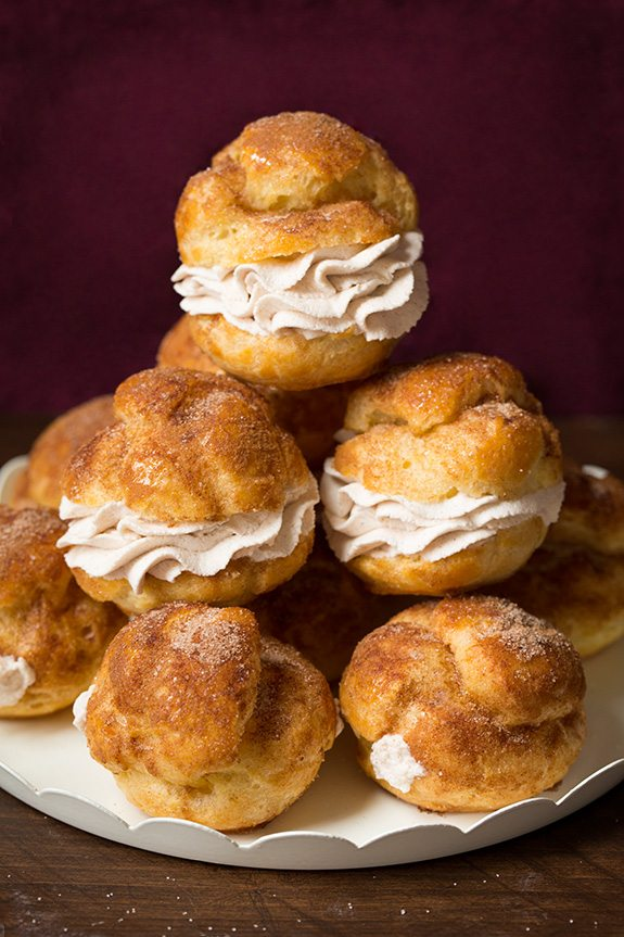 Churro Cream Puffs | Cooking Classy