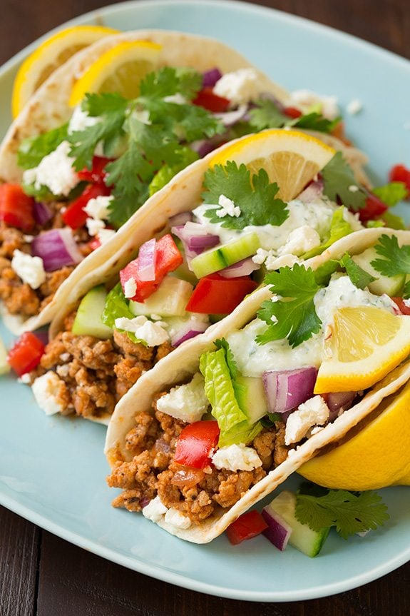 Greek Turkey Taco