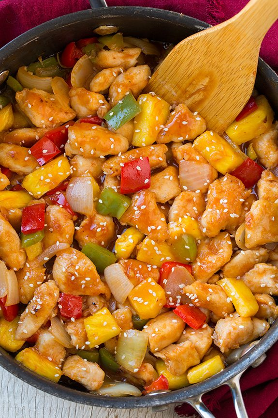 Lighter Sweet and Sour Chicken   Cooking Classy