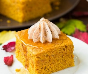 Pumpkin Cornbread with Cinnamon Honey Butter | Cooking Classy