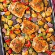 One Pan Cajun Chicken Dinner | Cooking Classy.