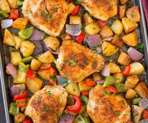 One Pan Cajun Chicken Dinner | Cooking Classy.