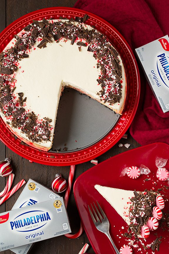 Peppermint Bark Cheesecake | Cooking Classy