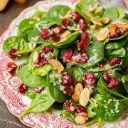 Cranberry Almond Spinach Salad with Sesame Seeds Dressing | Cooking Classy