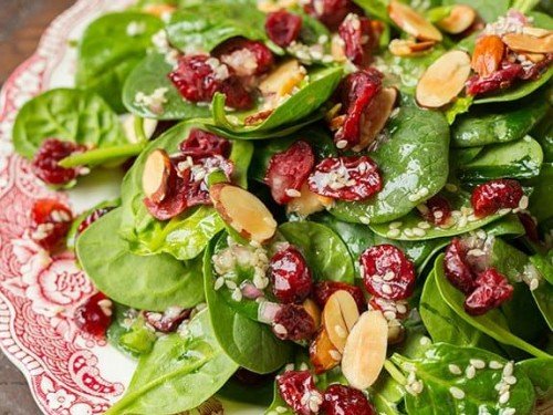 Spinach Salad With Cranberries And Almonds Cooking Classy
