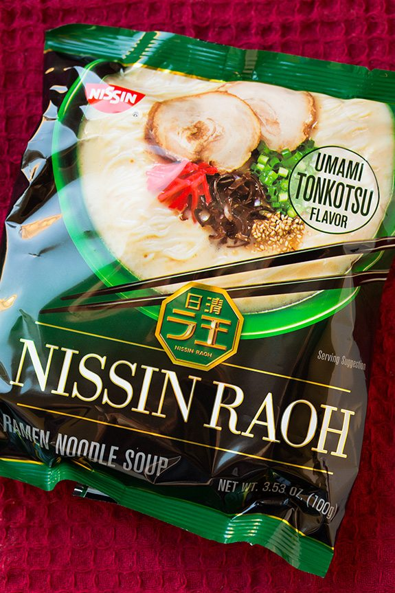 package of Nissin RAOH ramen